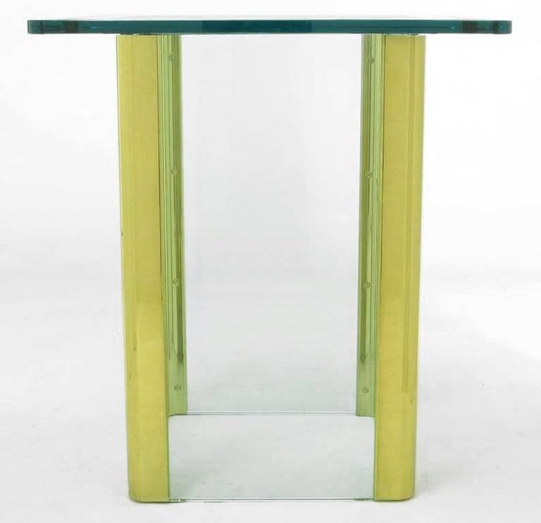 Late 20th Century Elegant Etched Glass Game Table in the Style of Pace Collection For Sale