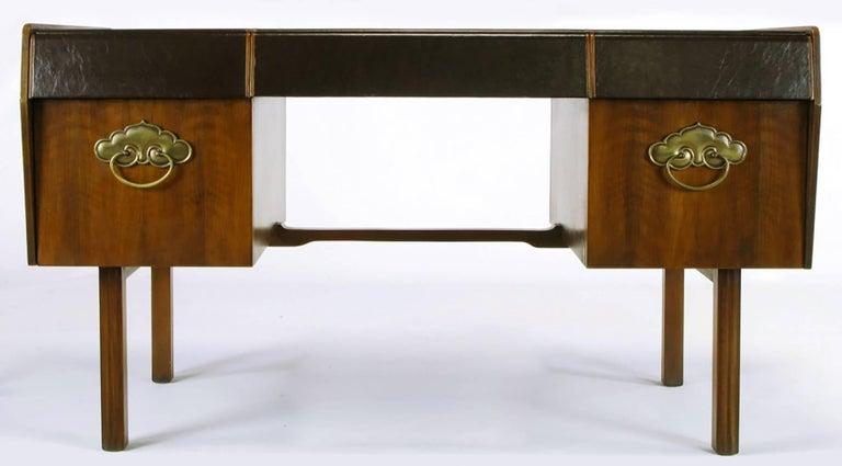 American Bert England Persian Walnut and Leather Desk for John Widdicomb For Sale
