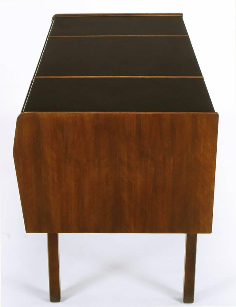 Mid-20th Century Bert England Persian Walnut and Leather Desk for John Widdicomb For Sale