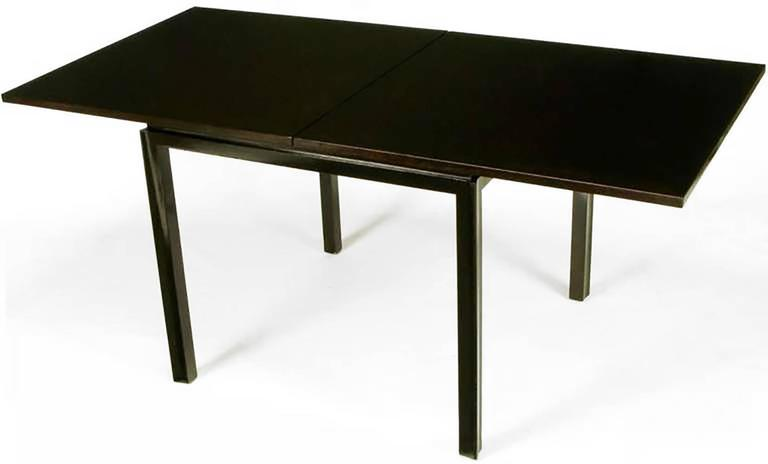 Mid-20th Century Edward Wormley Ebonized Walnut Flip-Top Game Table For Sale