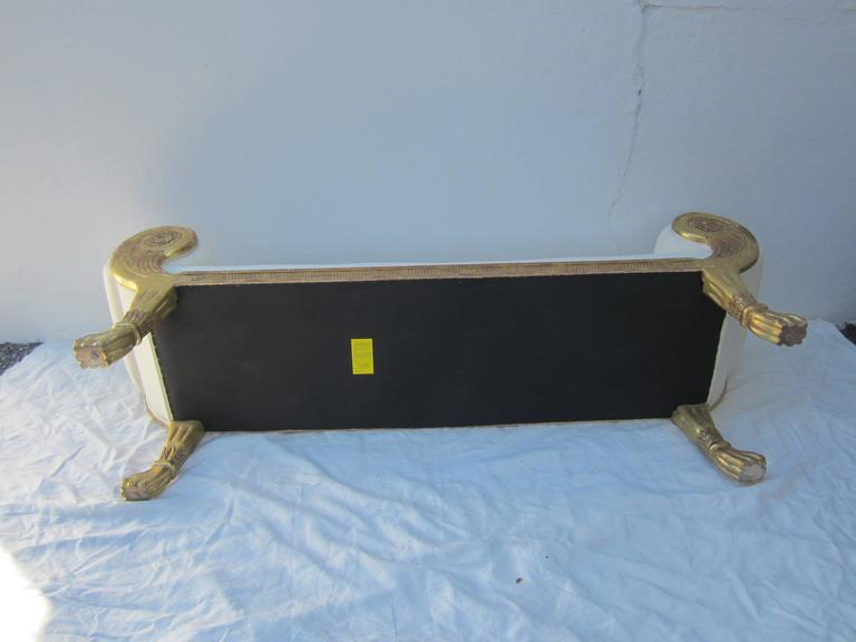 Neoclassical Gilt Bench 5