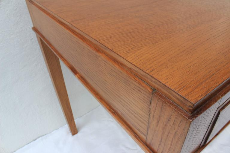 Jacques Adnet Oak Desk and Chair For Sale 1