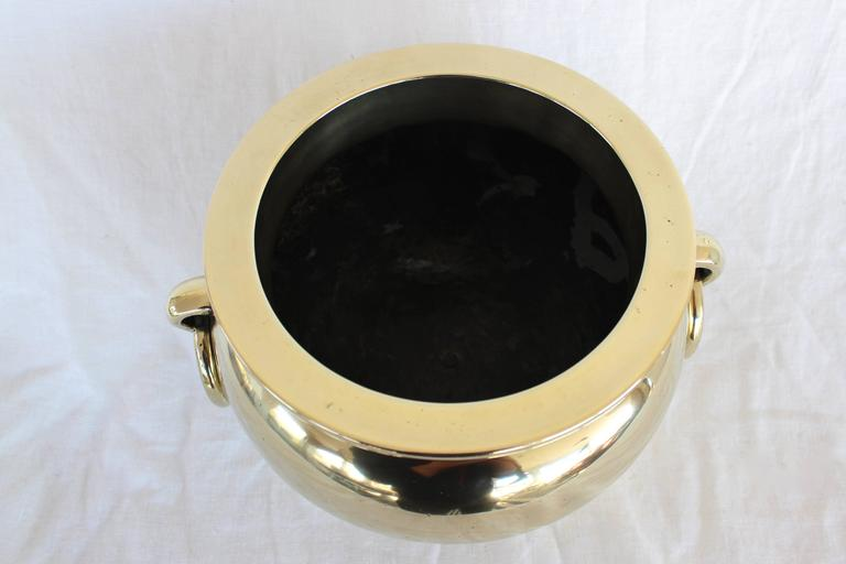 20th Century Chinese Solid Brass Cachepot For Sale