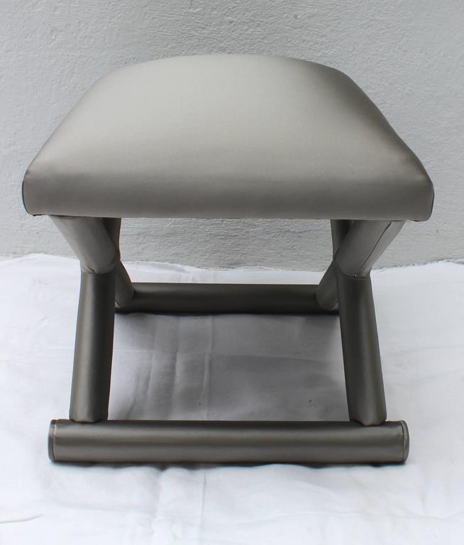 X Form Upholstered Bench For Sale At 1stdibs