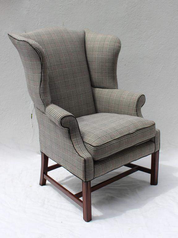 Large Chippendale Wingback Chair For Sale At 1stdibs
