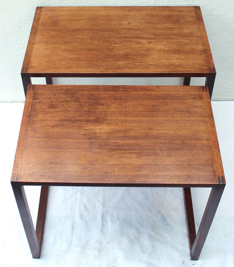 Set of Two Swedish Nesting Tables by Karl Erik Ekselius In Good Condition For Sale In East Hampton, NY