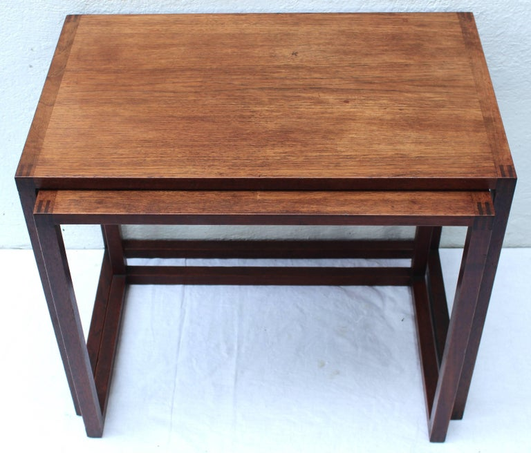 Mid-Century Modern Set of Two Swedish Nesting Tables by Karl Erik Ekselius For Sale