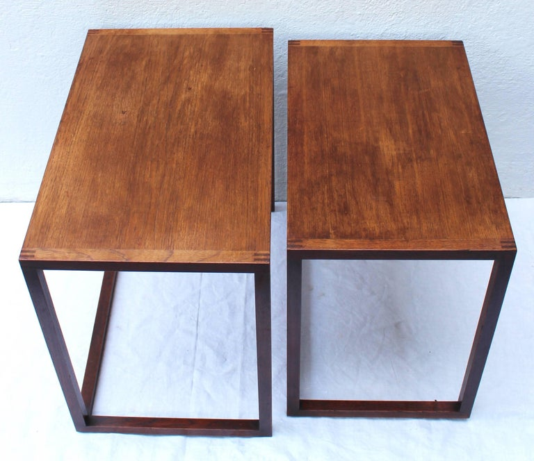 20th Century Set of Two Swedish Nesting Tables by Karl Erik Ekselius For Sale