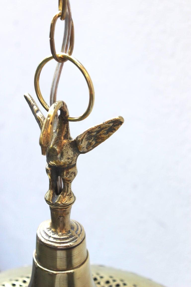 Moroccan Brass Light Pendant For Sale 2