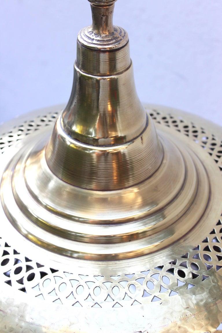 Moroccan Brass Light Pendant For Sale 3