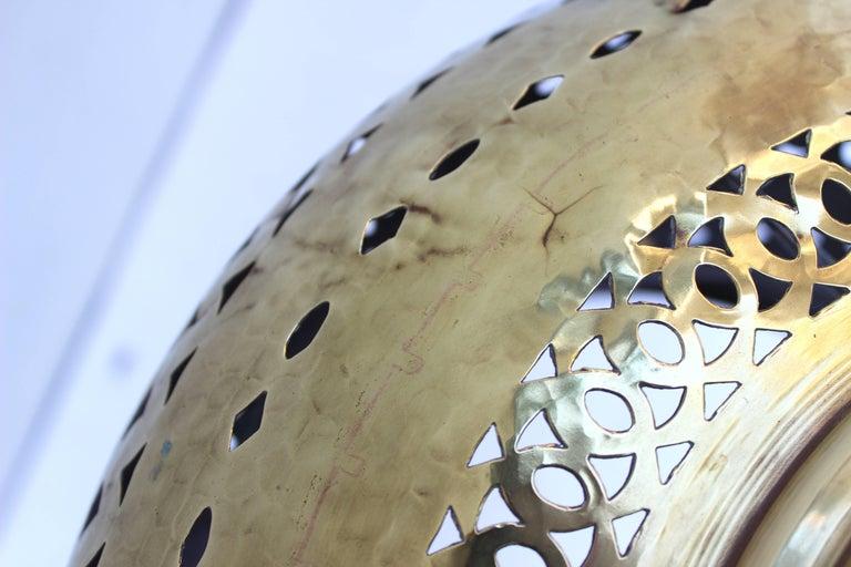 Moroccan Brass Light Pendant For Sale 4