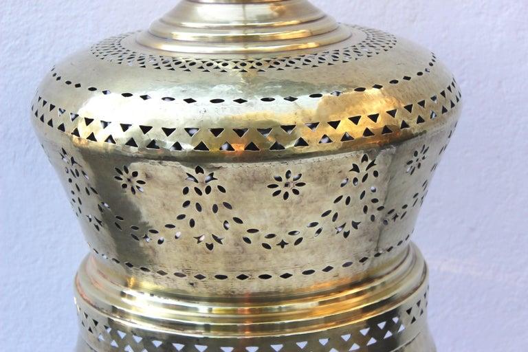 Moroccan Brass Light Pendant For Sale 6