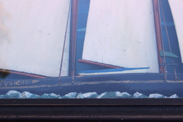 19th Century American Schooner Ship Diorama For Sale