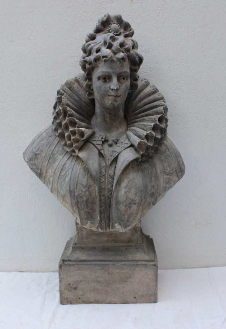 Large Bust of a Continental Lady In Good Condition For Sale In East Hampton, NY