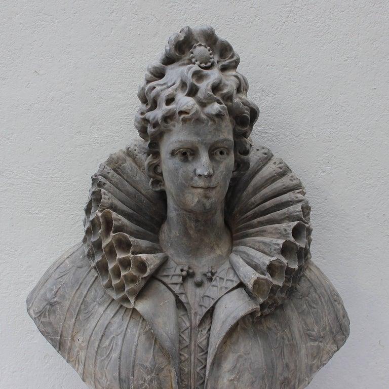 Impressive and large fiberglass bust of a female.