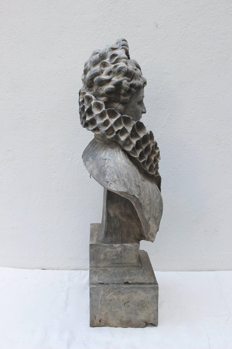 20th Century Large Bust of a Continental Lady For Sale