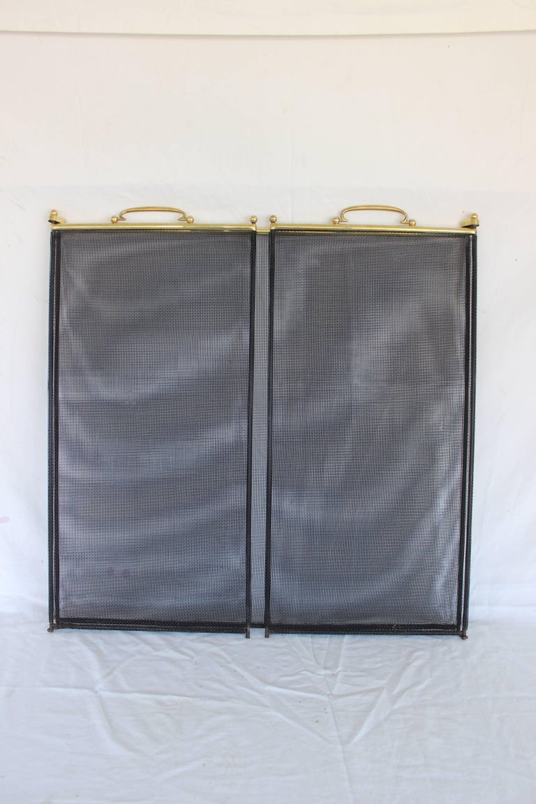 Brass And Metal Fireplace Screen For Sale At 1stdibs