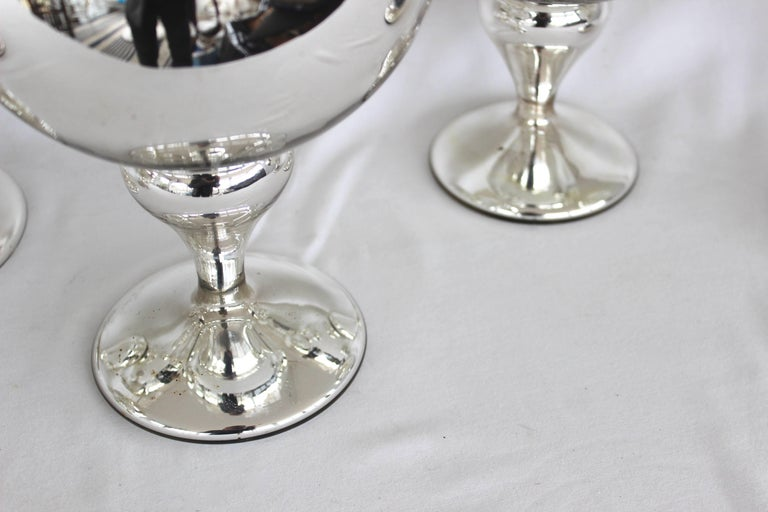 Collection of Mercury Glass Hat Stands For Sale 1