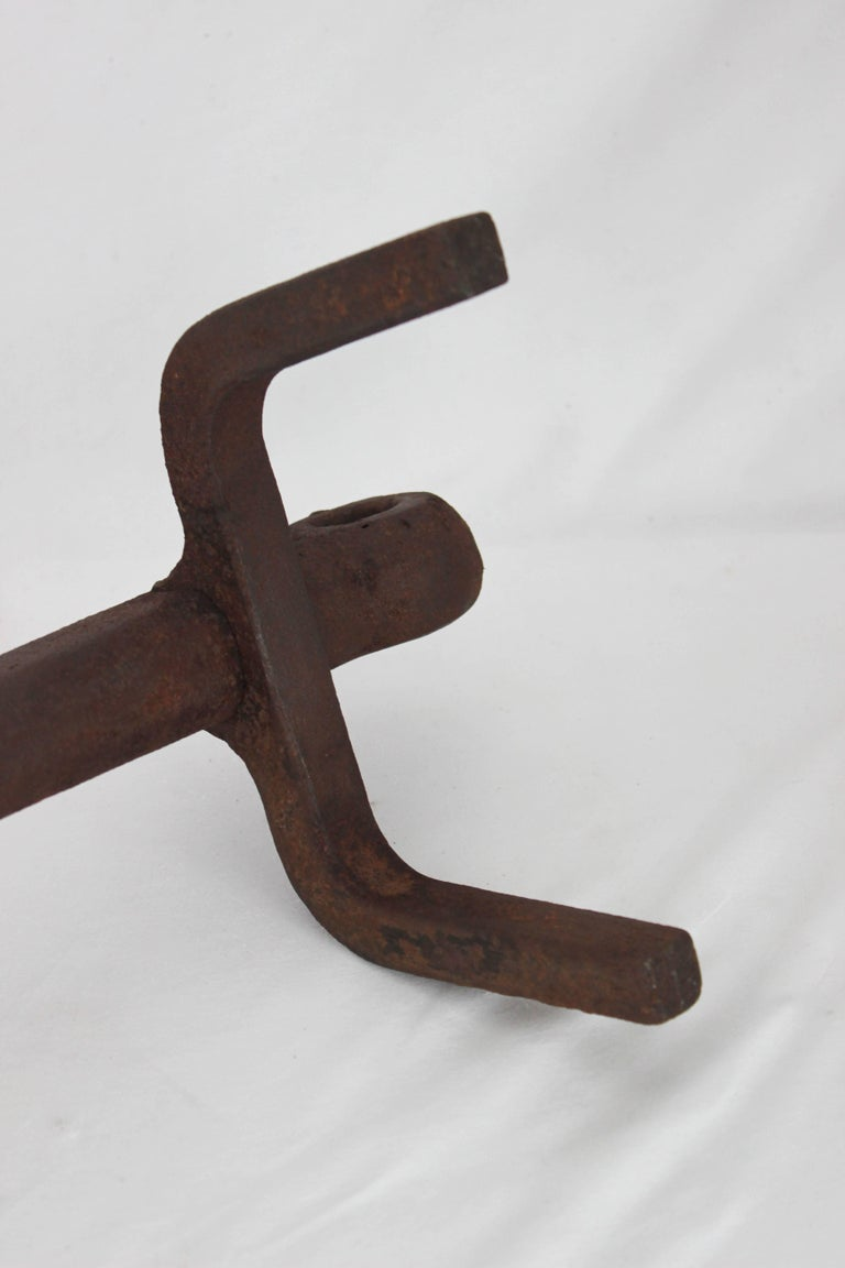 Pair of Iron Anchor Andirons For Sale 2
