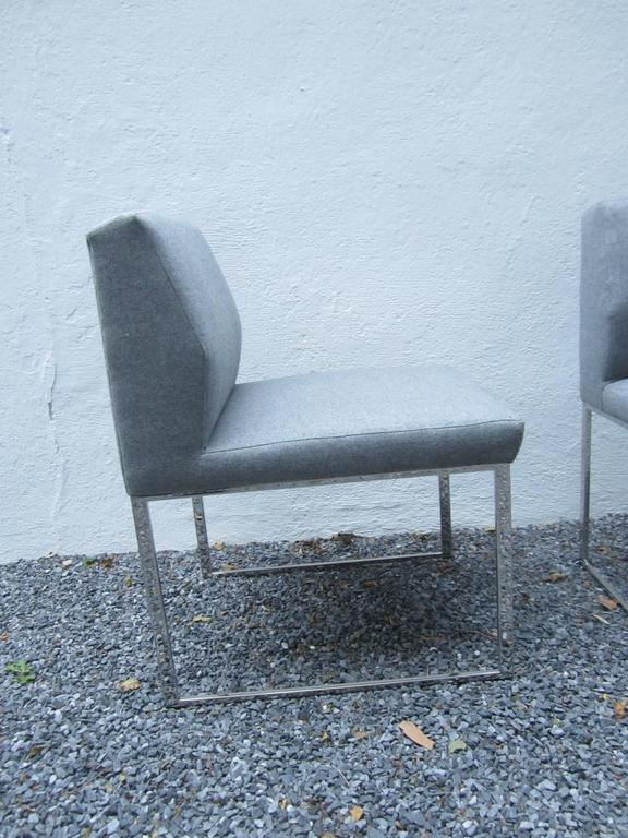 Pair of Brueton Pull-Up Zag Chairs In Excellent Condition For Sale In East Hampton, NY
