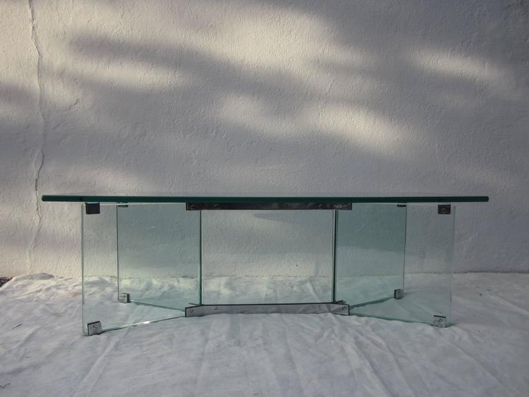 Glass Coffee Table in the Style of Pace 5