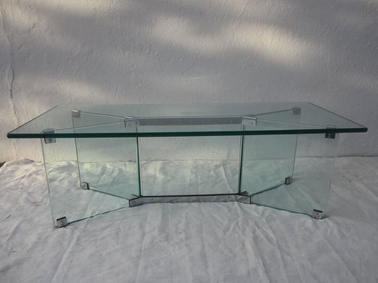 Glass Coffee Table in the Style of Pace 9