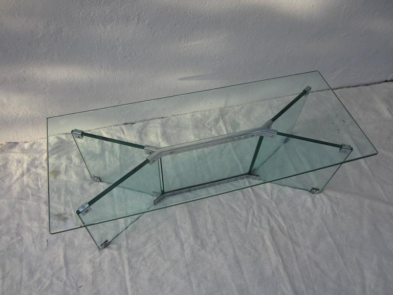 Glass Coffee Table in the Style of Pace 6