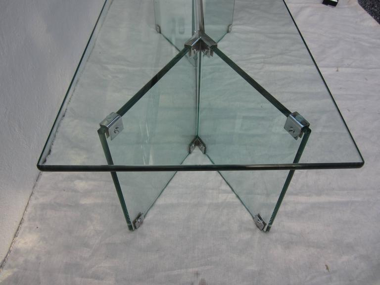 Glass Coffee Table in the Style of Pace 8