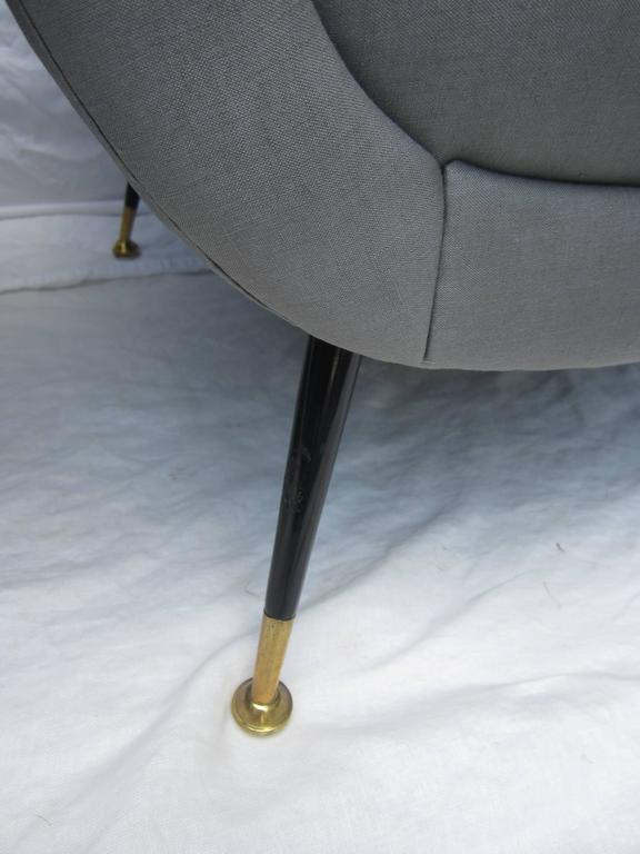 Steel Pair of Italian Armchairs by Gigi Radice for Minotti For Sale