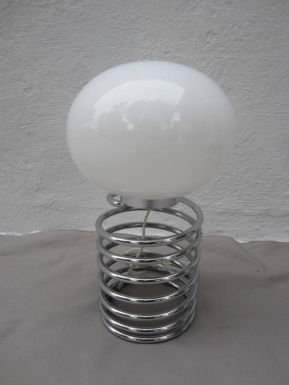 20th Century Steel Coil Table Lamp For Sale