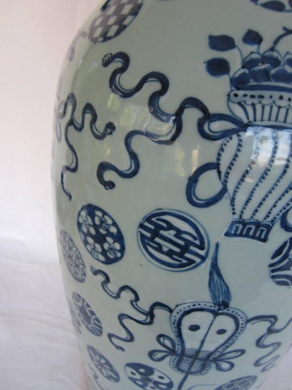 Chinese blue and white vase.