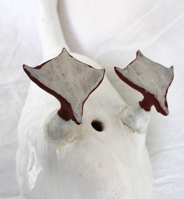 White Glazed Ceramic Goose 4