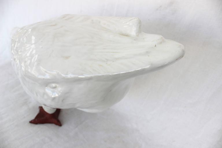 White Glazed Ceramic Goose 3