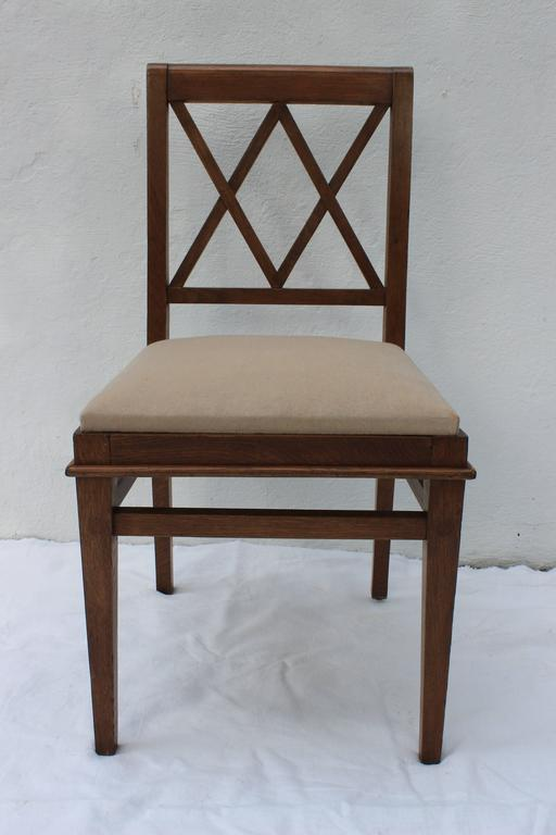 Jacques Adnet Oak Desk and Chair For Sale 3