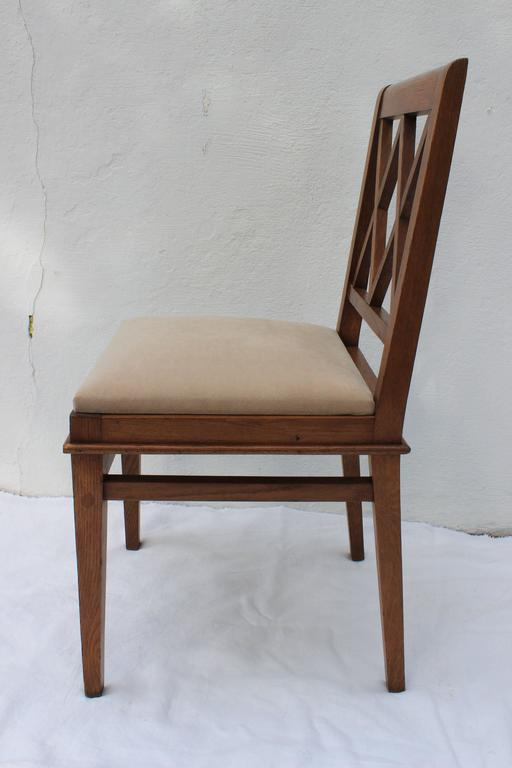 Jacques Adnet Oak Desk and Chair For Sale 4