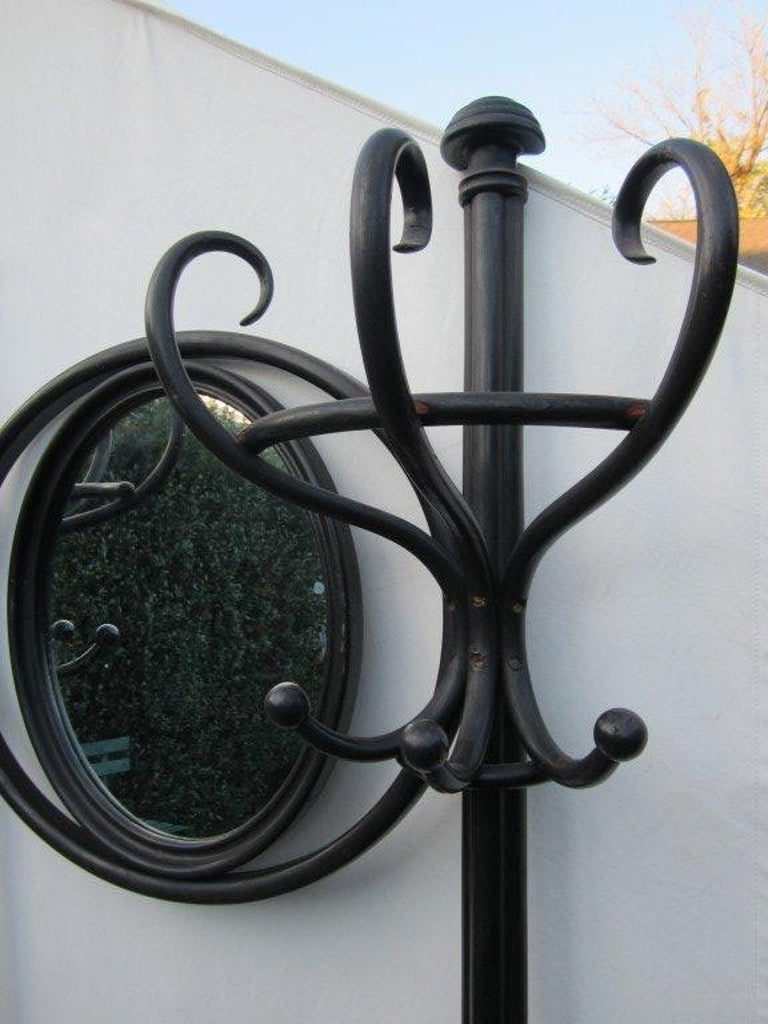 20th Century Thonet Hall Tree with Mirror For Sale