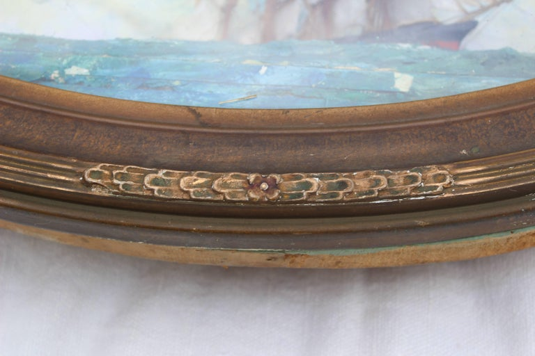 Oval Concave Ship Diorama For Sale 1