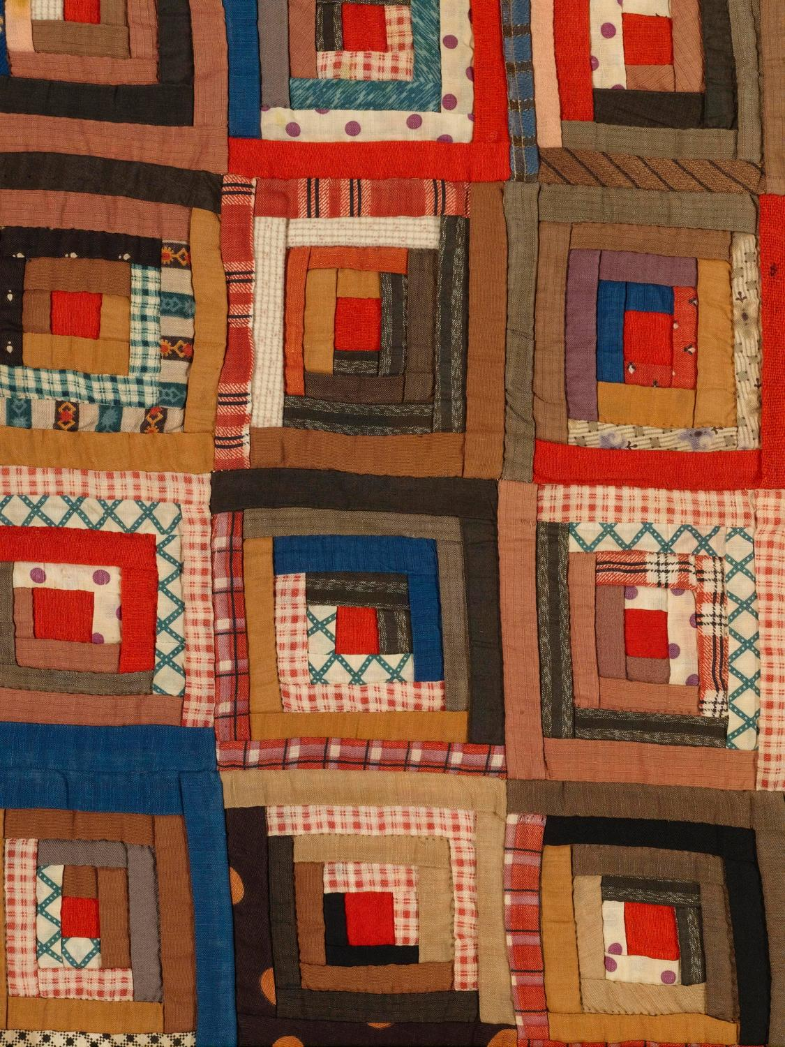 Amazing photo of Log Cabin Barn Raising Pieced Quilt For Sale at 1stdibs with #BA2311 color and 1125x1500 pixels