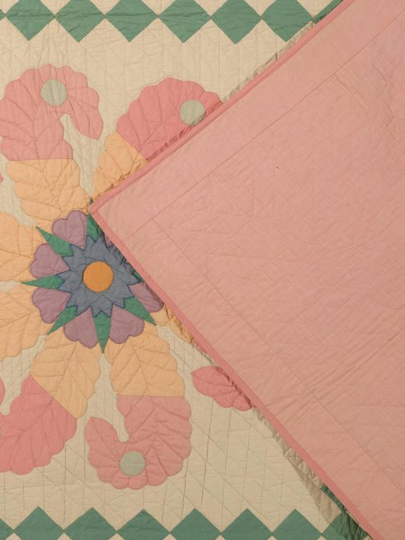 """""""Princess Feather"""" Antique Quilt 6"""