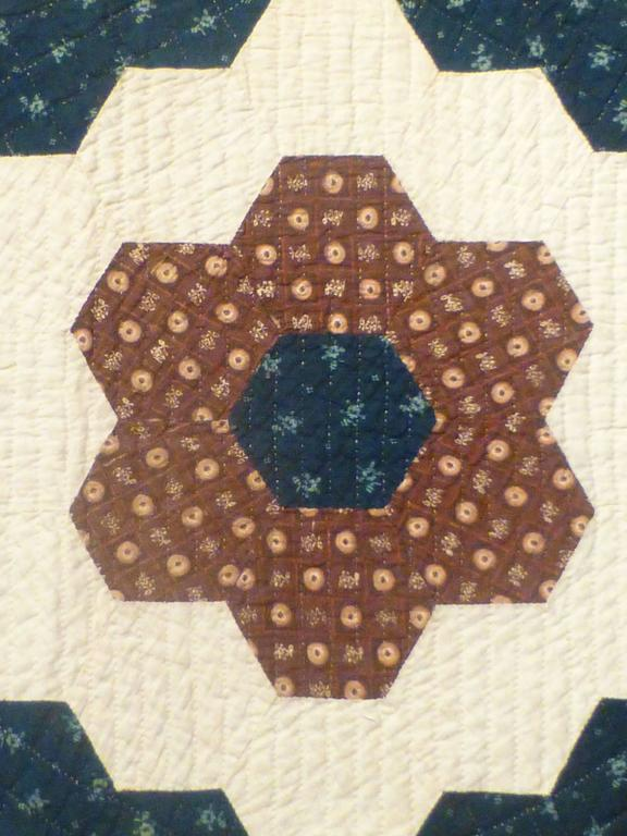 """Mosaic Hexagons"" Antique Quilt For Sale 1"