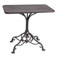 French Table in Black Paint Made by the Arras Foundry, circa 1890