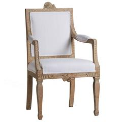 Gustavian Period Armchair from Lindome, circa 1790