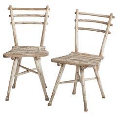 A Pair of Antique Austrian Thonet Garden Chairs circa 1904.