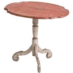 Swedish, Rococo Period Coral Flip-Top Table, circa 1760