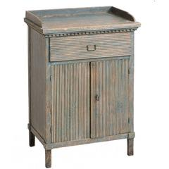 Swedish Gustavian Period Blue Painted Cabinet, circa 1800
