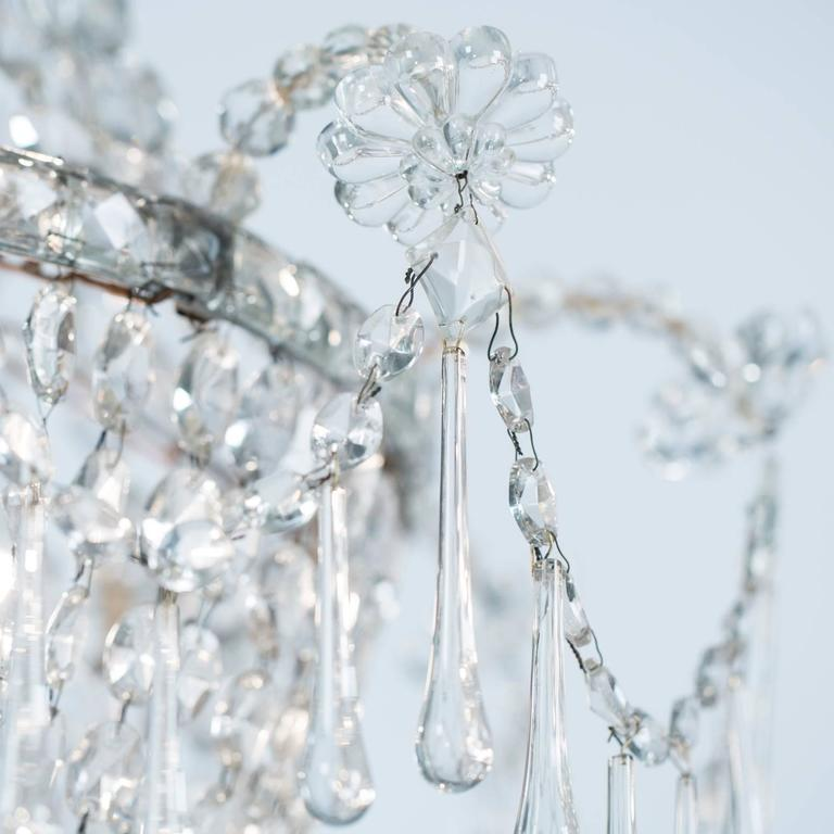 French, Late 19th Century, Crystal Chandelier with Three Inner Lights 3