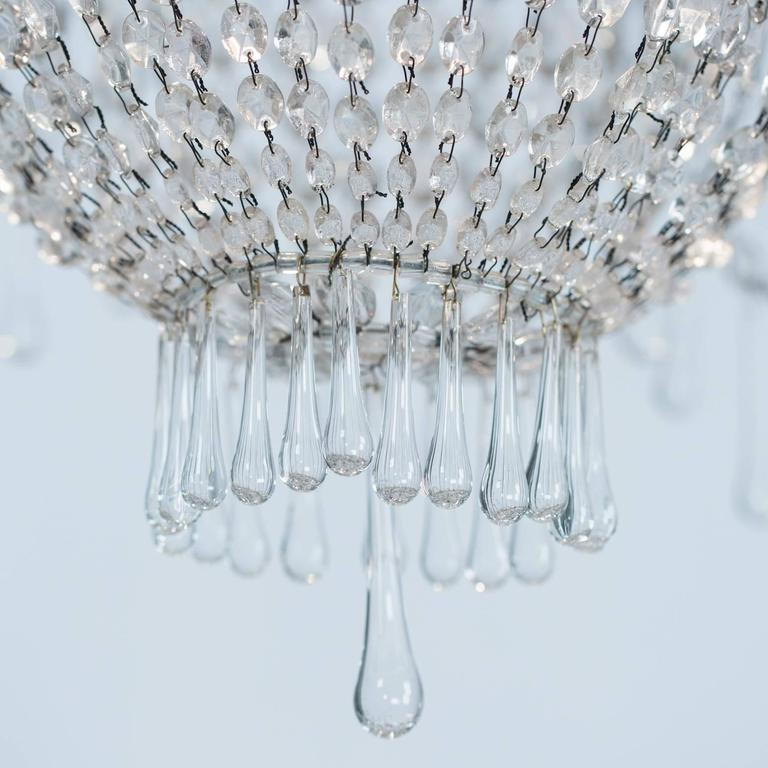 French, Late 19th Century, Crystal Chandelier with Three Inner Lights 7