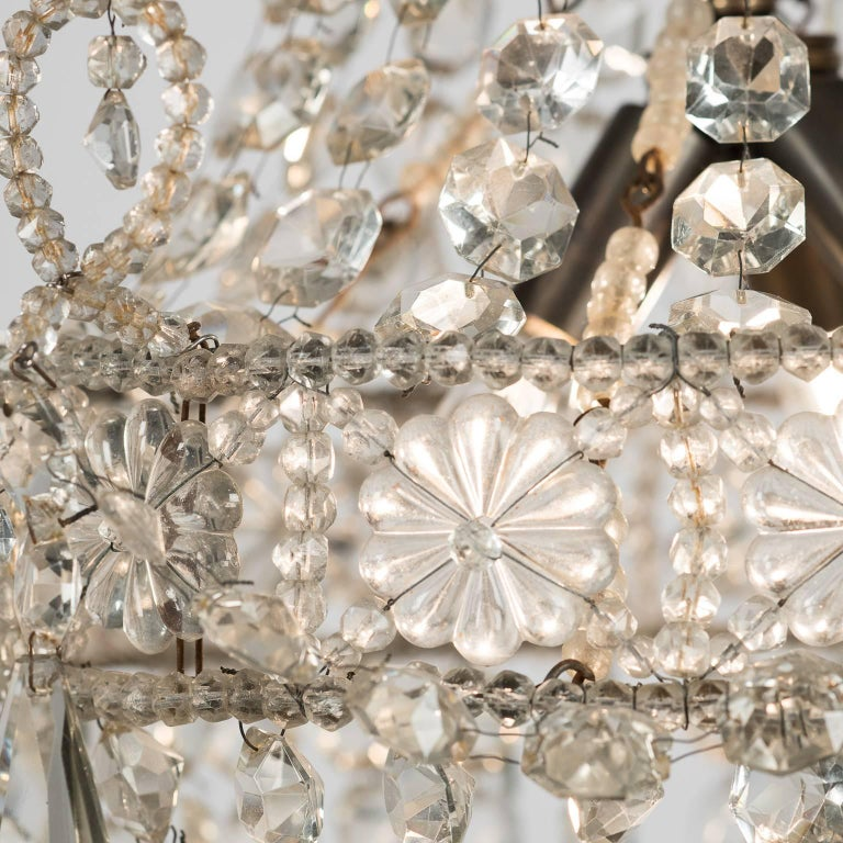20th Century Small French Crystal Chandelier, circa 1900 For Sale