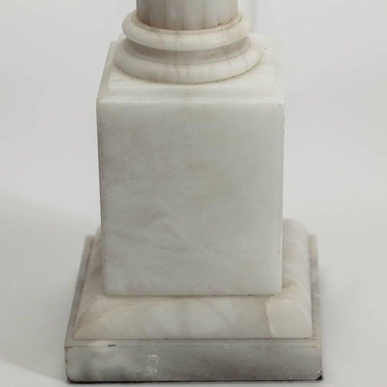 Italian Alabaster Corinthian Column Lamp, circa 1950 3