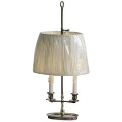 French Late 19th Century Silver Plate Desk Lamp